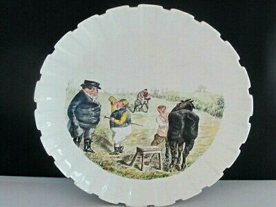 Antique Spode Copeland China Punch Handpainted Mr Briggs Horse Racing Plate • 75£