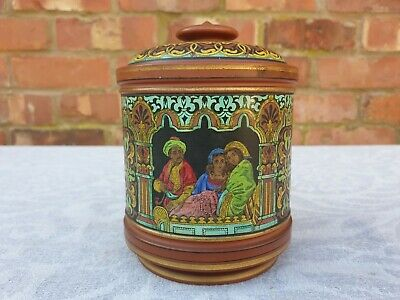Indian Pottery Tea Caddy • 14.99£
