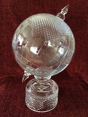 Large Tyrone Crystal Globe Excellent Condition. • 195£