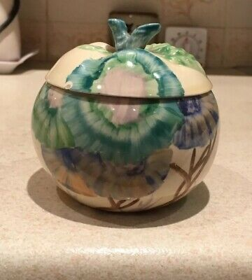 Clarice Cliff Aurea Apple Shaped Preserve Pot • 200£