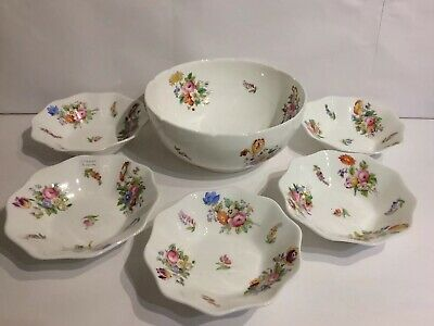 Coalport Junetime Fruit Bowl & 5 X Small  Dishes • 50£
