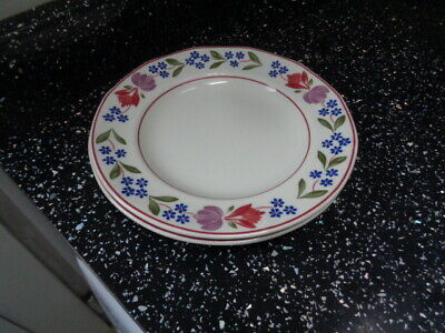 Adams Old Colonial Side Plates X 2 • 12£