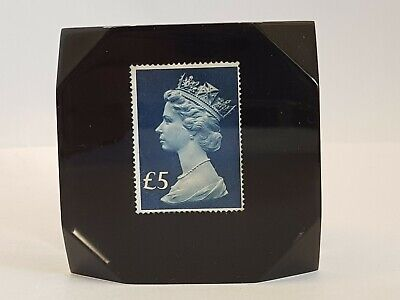 £5 Stamp In Resin Or Acrylic Paperweight Philataly  • 4.99£