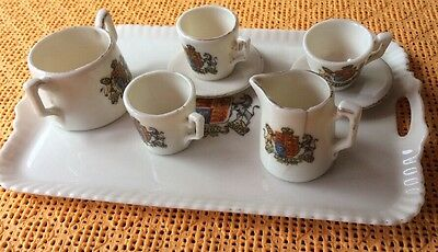 Crested Miniature Part Teaset And Tray Gemma Ware • 7£