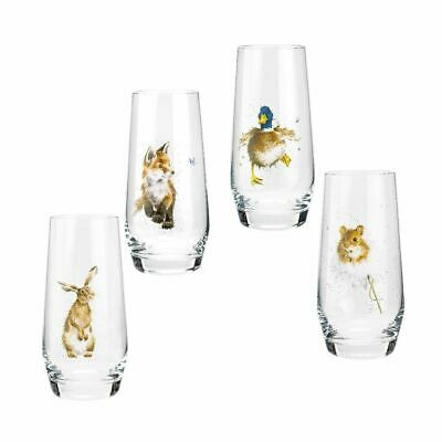Wrendale Designs  Royal Worcester Country Animals Hi-Ball Glasses Set Of 4 • 36.95£