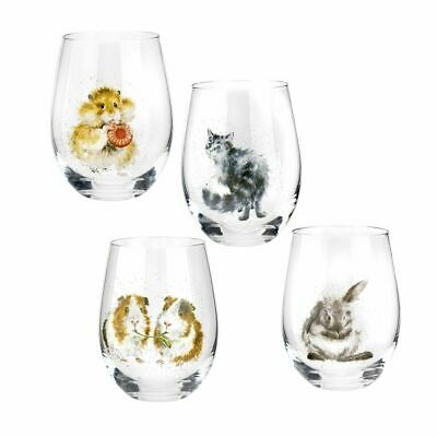 Royal Worcester Wrendale Designs Assorted Domestic Pet Tumblers Set Of 4 • 36.95£