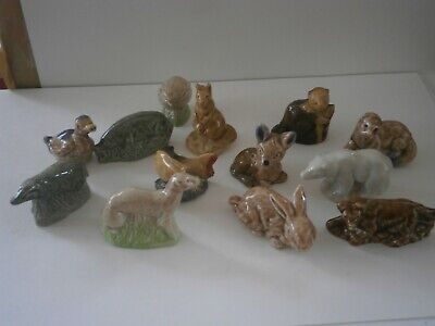 Collection Joblot Of 13 Wade Whimsies Animals Rabbit Deer Fish Duck Bear Lot 3 • 3.99£