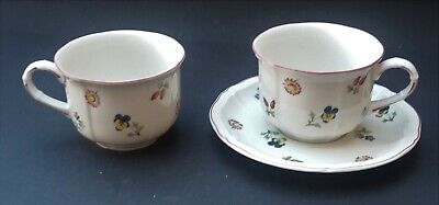 Villeroy And Boch Petite Fleur Two Breakfast Cups And One Saucer • 14.99£