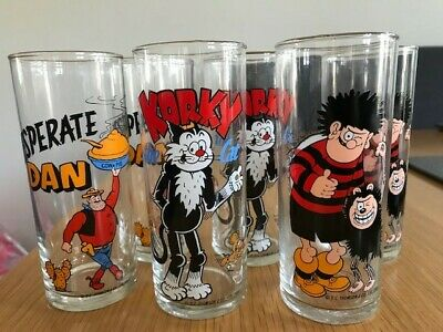 Mint Condition Set Of 6 D C Thomson & Co Ltd Dandy And Beano Drinking Glasses • 0.99£