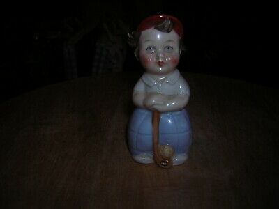 Hummel Figure Of A Lady Golfer Which Is A Salt Pot 8cmtall Made In West Germany  • 0.99£