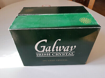 6 X Galway Irish 24 % Lead Crystal Glass Goblets Boxed - New • 20£