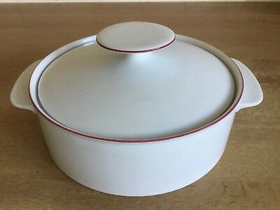 Thomas China Scandic Ruby Red Edge  - 20.5 Cm Lidded Serving Dish • 15£