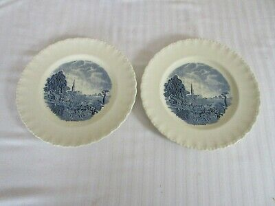 Vintage  Grindley Plates Scenes After Constable Salisbury Cathedral Blue Dinner  • 4.99£