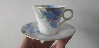 Shelley China Silver Sage 781613 Regent Shape Coffee Cup & Saucer • 4.99£