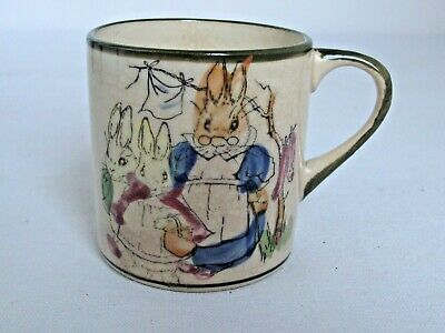 Antique Child's Ceramic Cup Bunnies And Rabbits • 14.63£
