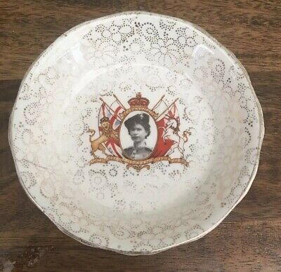 Antique Commemorative Plate Dish Queens Coronation H&K Tunstall Great Condition • 4.99£