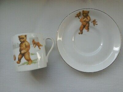 Vintage Tuscan China Coffee Cup And Saucer. C1907 Footballing Teddy. • 2.70£