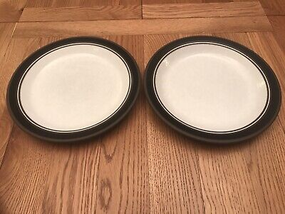 Two Vintage Retro 1976 Hornsea Contrast 10  Or 25cm Dinner Plates Lancaster • 5£