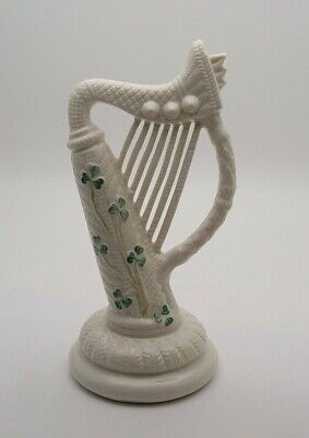 Large & Early 8 1/2 Inch Belleek Irish Smamrock Harp - Perfect • 19.99£