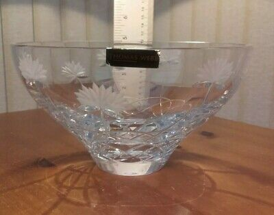 Large Heavy Quality Thomas Webb Crystal Fruit Bowl. In Fantastic Condition. • 29.99£