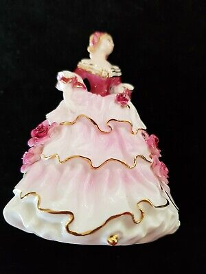 Coalport Figurine Floral Miniatures Lady Hannah Used For Display In Cabinet • 35£