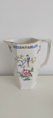 Vintage Lord Nelson Tsing Ware Ceramic Jug Pink Blossoms Birds Oriental  • 7.99£