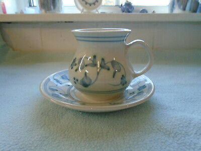 Ref 001 1970s Rye Pottery Sussex Cup And Saucer  • 6.50£