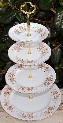 Colclough AVON Cake Stand 4 Tier Lovely Condition • 9.50£