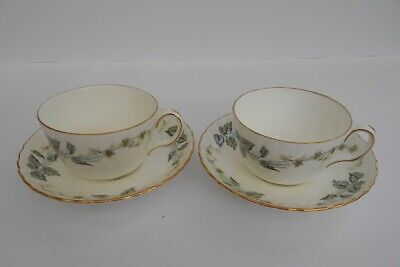 Minton  Greenwich  English Bone China Pair Of Tea Cups And Saucers. • 11.99£
