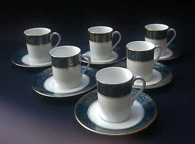 Six Royal Doulton Carlyle Coffee Cups And Saucers • 19.99£