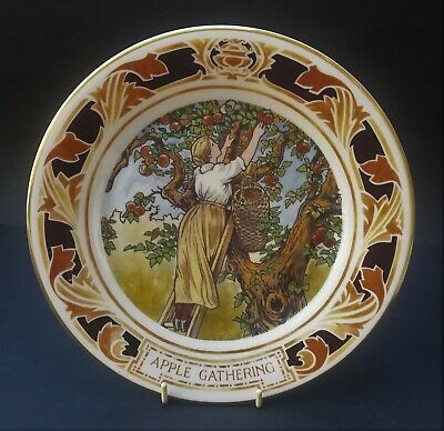 Pretty Royal Doulton Old Charing Cross Hospital Plate - Apple Gathering • 5.50£