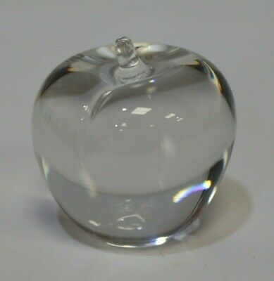 WEDGEWOOD England Vintage Clear Glass APPLE Paperweight Ornament - 232 • 14.95£