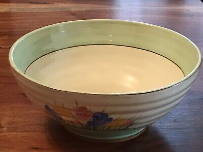 Clarice Cliff Bowl Spring Crocus - Lovely Condition • 85£