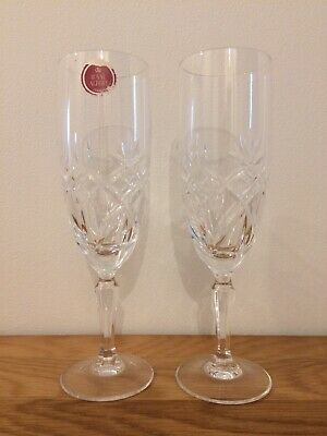 Royal Albert Crystal Champagne Flutes • 8.99£