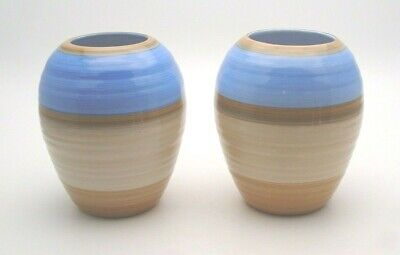PAIR OF ART DECO SHELLEY HARMONY VASES C.1930's - PERFECT • 19.99£