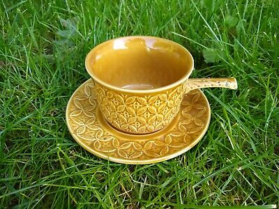 Vintage 1970s Tams Handled Soup Bowl & Saucer Textured Pattern VGC • 7.99£