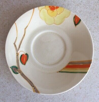 Clarice Cliff Yellow Rose Saucer • 55£