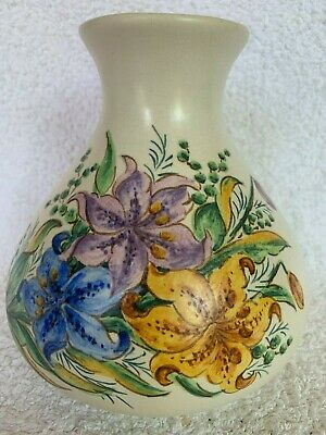 1950s Axe Vale Pottery - Large, Hand-painted Vase / Honiton Style • 15£