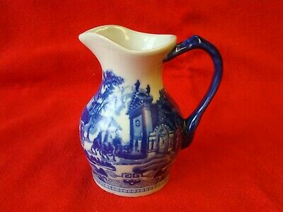 Victoria Ware Ironstone Vintage Large Pitch Jug Flow Blue • 16£