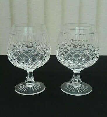 Rare Stuart Crystal Brandy Glasses Set Of Two 5  Inches Tall Brandy Balloons Vgc • 45£