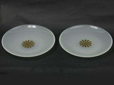 Antique Pair Of French Opaque Glass Ice Plates C.1880 • 29£