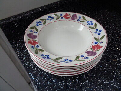 Adams Old Colonial Soup Plates X 6 • 60£