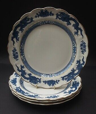 Four Vintage Booths Blue And White Dragon Luncheon Plates • 19.99£