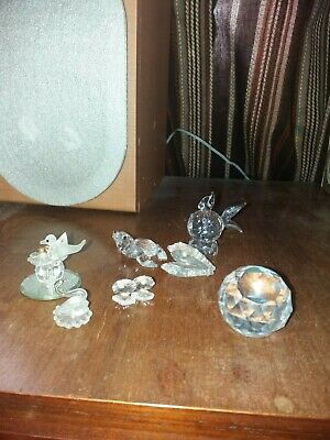 Crystal.Miniture Ornaments Sphere Fish Oyster Etc • 4.99£
