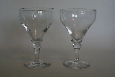 Antique Georgian Pair Smaller Ale / Drinking Glasses With Snapped Pontil Scars • 49.95£