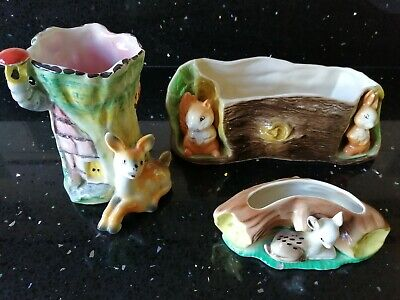 3 Pieces Of Fauna Pottery.  Eastgate, Hornsea. • 4.99£