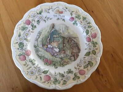 Royal Doulton Brambly Hedge The Plan Plate • 10.50£