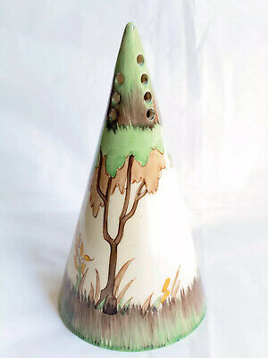 Clarice Cliff Conical Sugar Shaker Sifter Glendale Tree 1930s Art Deco Vgc • 115£