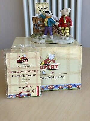 Royal Doulton Rupert Tempted To Trespass Ltd Edition • 60£