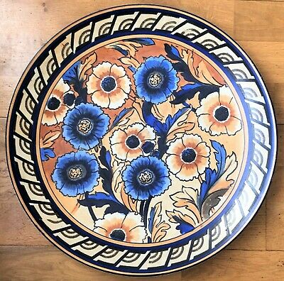Rare Charlotte Rhead Wood & Sons Bursley Ware Large Wall Plaque - 1793 Pattern • 250£